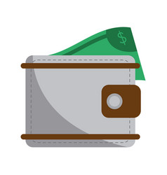 wallet with money symbol vector image