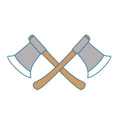 Woodcutters axes isolated icon vector