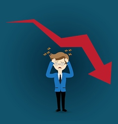 Business man in crisis vector image