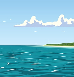 Calm view of the seaside vector image vector image