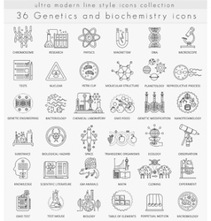 Genetics and biochemistry technology ultra vector image vector image