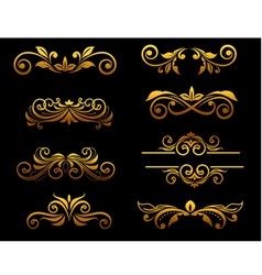golden vintage floral vector image vector image