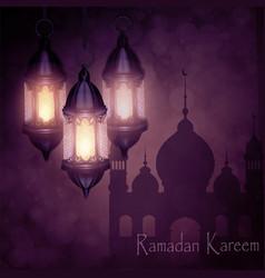 ramadan kareem greeting background vector image
