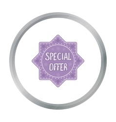 Special offer icon in cartoon style isolated on vector image
