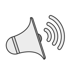 Bullhorn megaphone loudspeaker vector