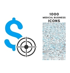 Business Target Icon with 1000 Medical Business vector image vector image