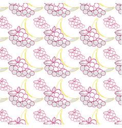 delicious banana and grape healthy fruit vector image vector image
