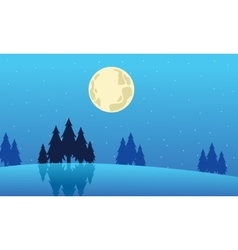 Landscape winter Christmas collection stock vector image vector image