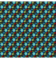seamless pattern flower vector image
