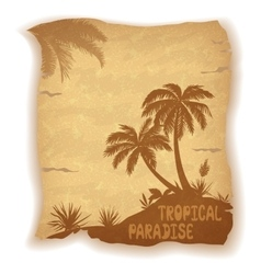 Tropical Sea Landscape with Palm Trees vector image vector image