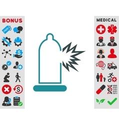 Condom Damage Icon vector image vector image