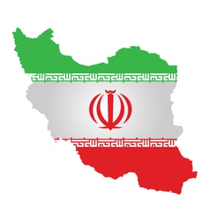Iranian Flag vector image vector image