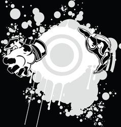 Miracle Hands Graffiti vector image