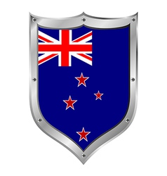 New Zealand flag button vector image