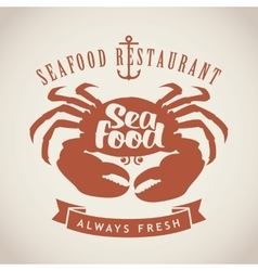 restaurants or seafood shops vector image vector image