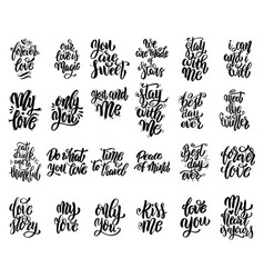 set of hand written lettering motivational quotes vector image vector image