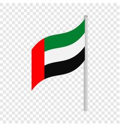 flag of united arab emirates isometric icon vector image