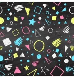Geometric color chalked pattern vector image vector image