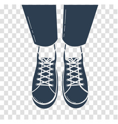 icon of feet in sports shoes vector image vector image