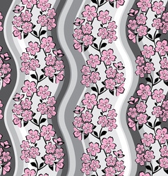 sakura background vector image vector image