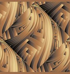 3d ornate greek seamless pattern ornamental vector image