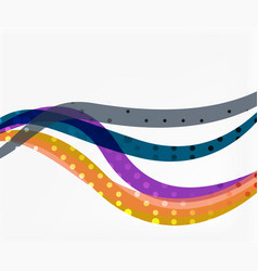 abstract wave lines background vector image