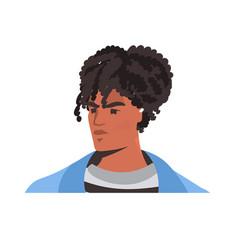 African american man against racial discrimination vector