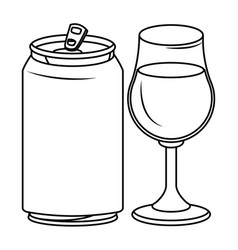 Alcoholic drinks beverages cartoon vector