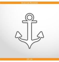 anchor web flat icon vector image