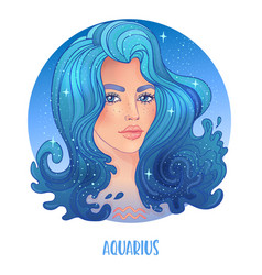 aquarius astrological sign as a vector image