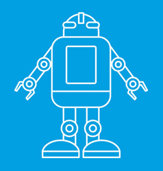 Artificial intelligence concept icon outline style vector