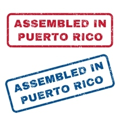Assembled In Puerto Rico Rubber Stamps vector