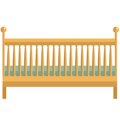 Baby cradle icon flat isolated vector