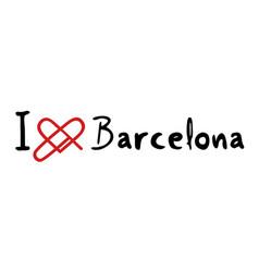barcelona love icon vector image