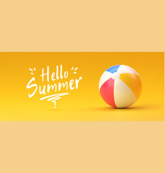 beach ball summer and vacations concept vector image
