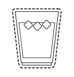 Beverage with ice icon image vector