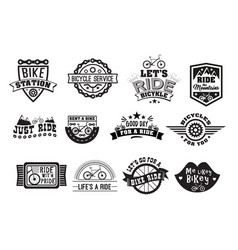 Bike badge vintage style set vector