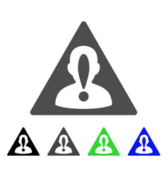 Blacklisted person flat icon vector