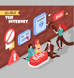 Blocking the internet composition vector