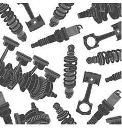 car parts background vector image