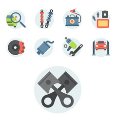 car service parts flat auto vector image