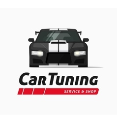 Car tuning shop banner sticker auto vector