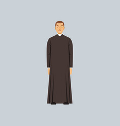 catholic priest or pastor representative of vector image