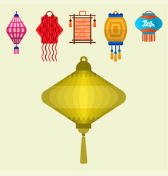 Chinese lantern paper lightertraditional vector