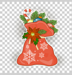 christmas bag santa claus vector image