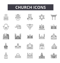 church line icons for web and mobile design vector image