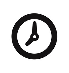 clock icon isolated on white background modern vector image