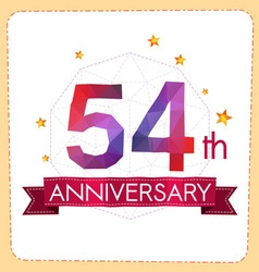 Colorful polygonal anniversary logo 2 054 vector
