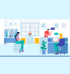 Company office or healthcare clinic reception hall vector