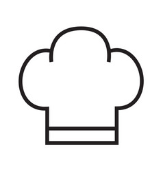 Cooking hat icon line on white background vector